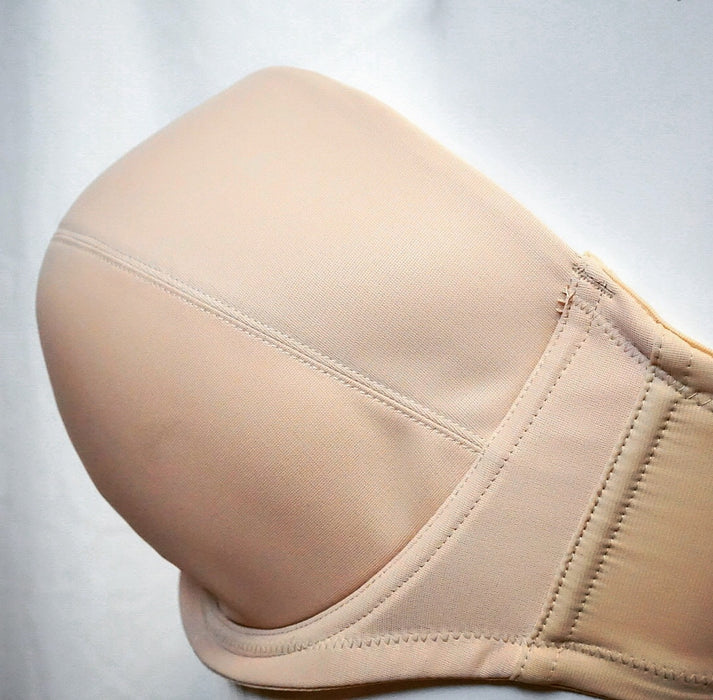 Panache Evie, a strapless bra that can be worn with straps in beige and at a discount. Style 5320.