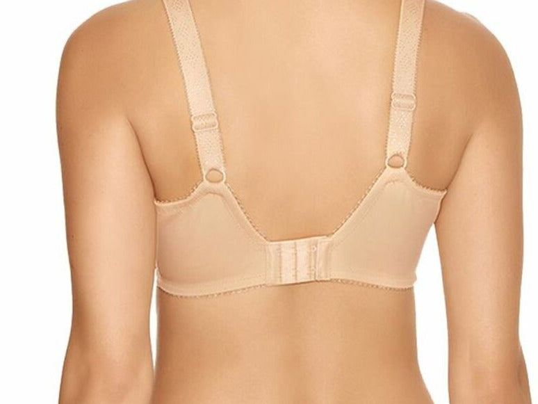 Fantasie Jacqueline, a full cup, minimizer bra. A great everyday bra on sale. Color Beige. Style FL9081.