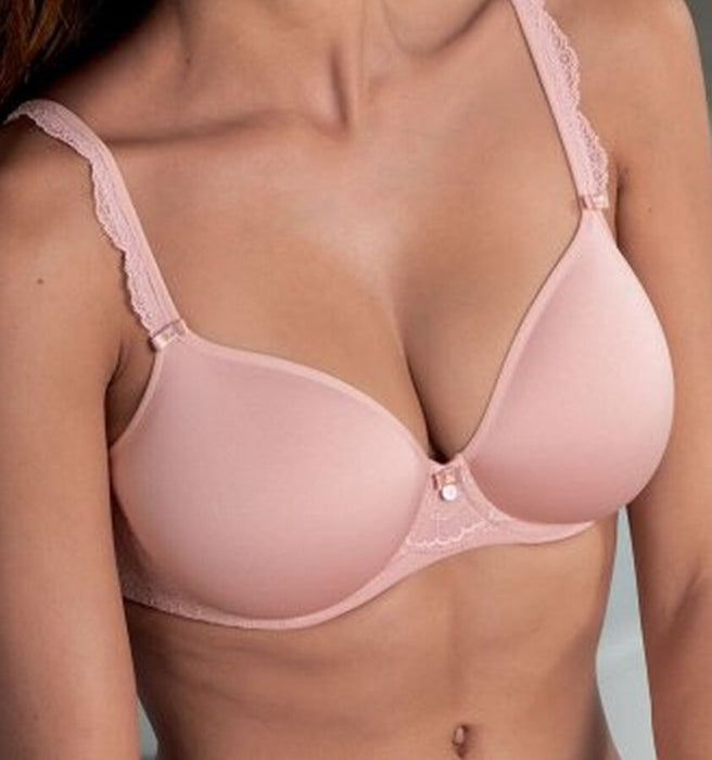 A beautiful tshirt bra from Rosa Faia's Anita line, Selma, with great spacer cups. Color Rosewood Pink. Style 5637.