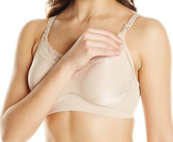 A softcup, drop cup, nursing bra from Heidi Klum. Great support and nursing convenience. Style H71-135.