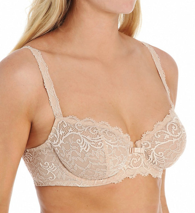 Simone Perele's 'Celeste', a lace underwire bra with all over sheer lace and a soft tulle lining. The 2part, underwire cups are lined with mesh for added support. Style 12M334.