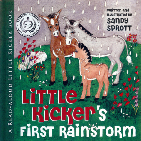 Little Kicker's First Rainstorm is a Christian children-s-literature from Little Kicker Books. He is taught by Daddy Donkey to pray when he is afraid of the storm. It is a story of Gods provision and Gods shelter.