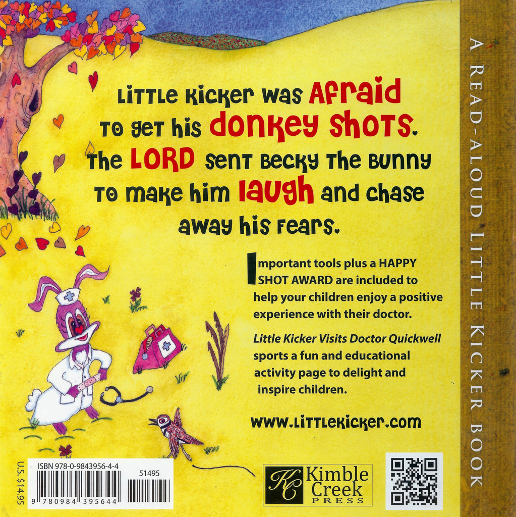 Children S Book Back Cover : Little kicker visits dr quickwell books