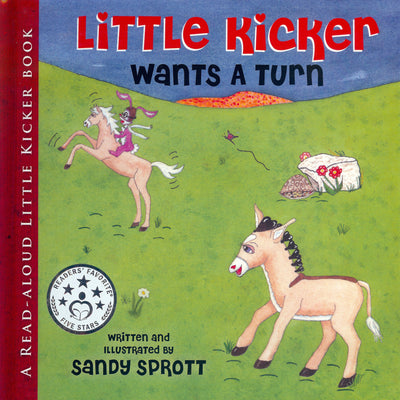 Little Kicker Wants A Turn is the 4th Little Kicker Books read-aloud-to-child in which Little Kicker asks for prayer. This is a book-about-sharing.