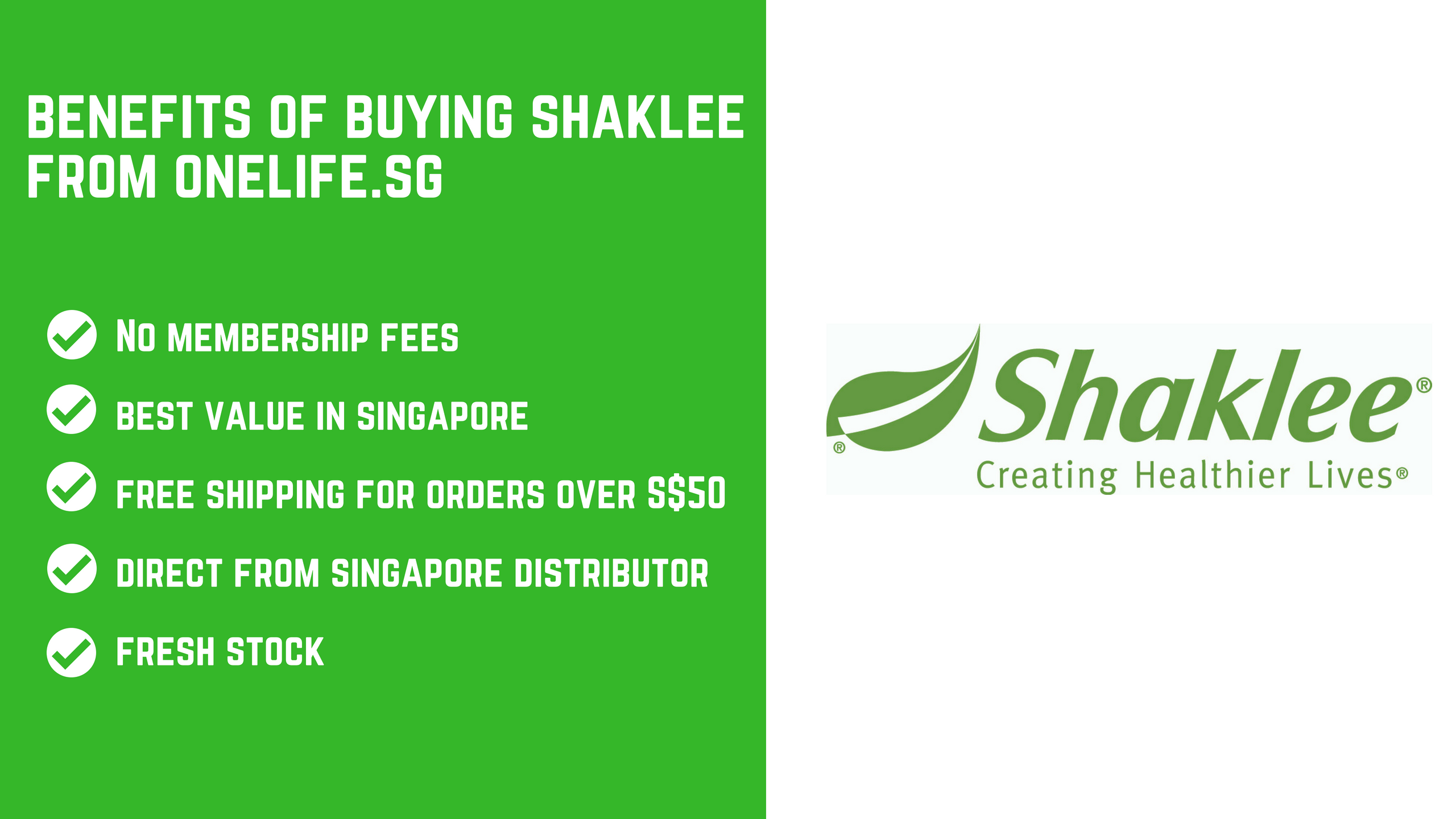 Shaklee - Buy from Shaklee Singapore Distributor - OneLife