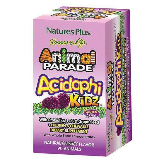 Onelife Singapore.Natures Plus Animal Parade AcidophiKidz Children's Chewables