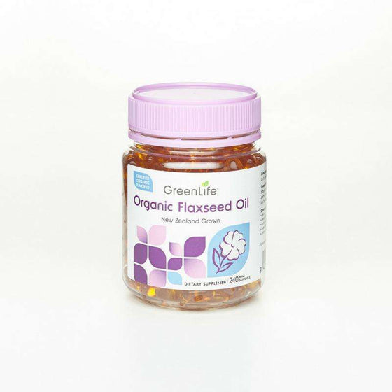 Onelife Singapore.Organic Flaxseed Oil,120 mini softgels