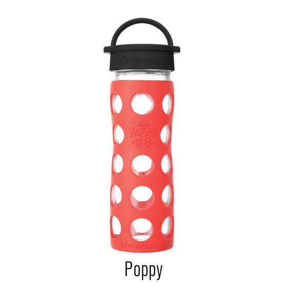 Onelife Singapore.Classic Cap Glass Bottle 16oz | 475ml,Poppy