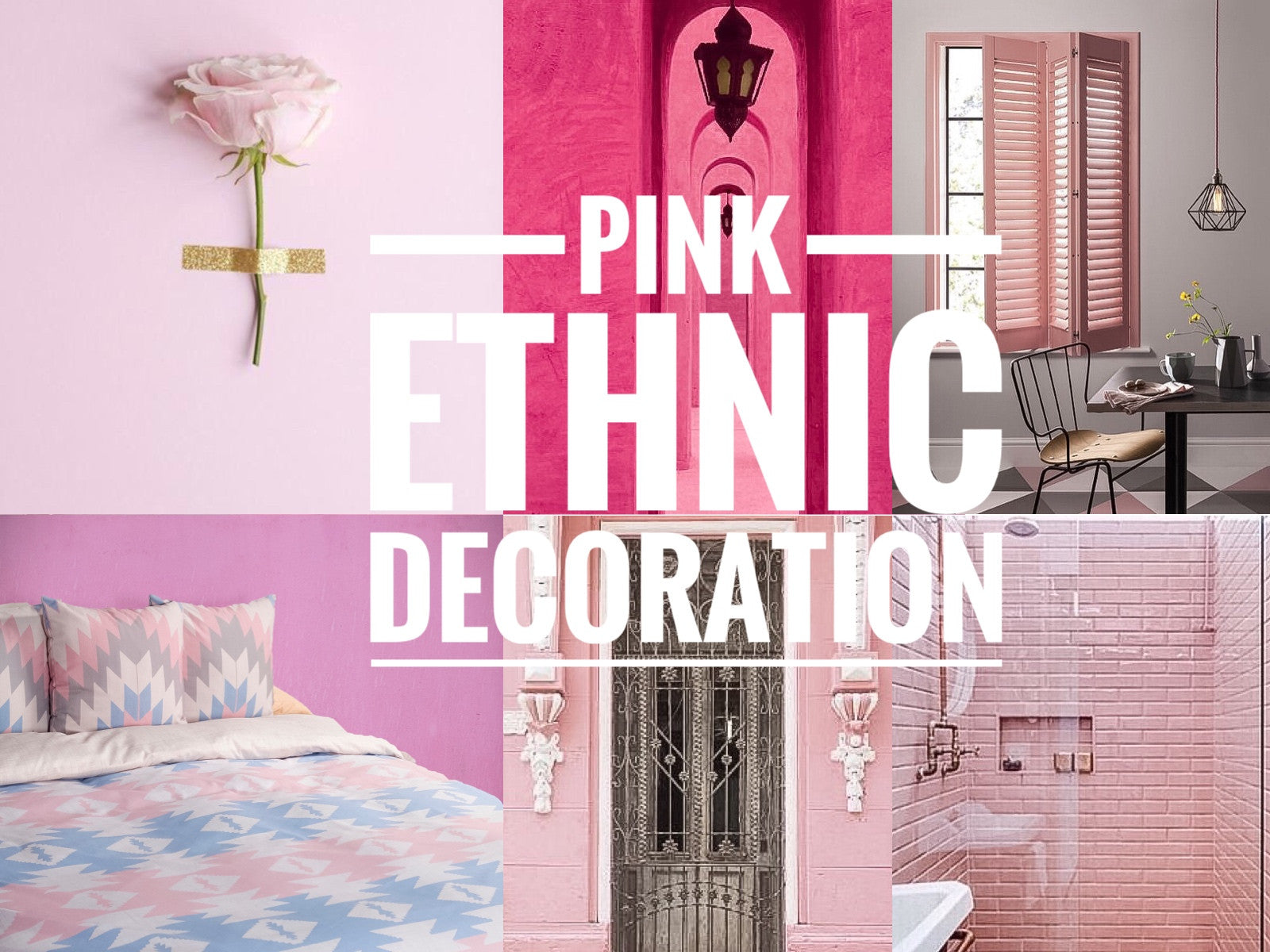 PINK ETHNIC DECORATION
