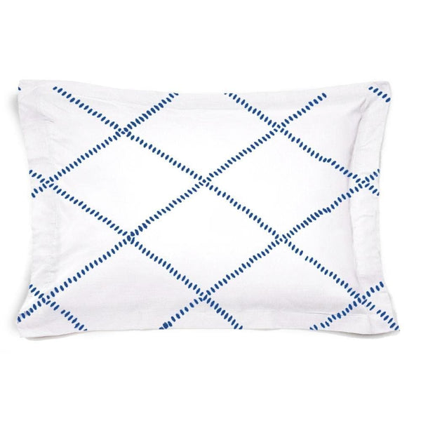 Funda de Cuadrante cama Honey Blanco Azul - sokios