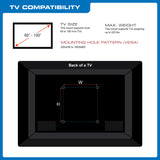 "QualGear® QG-TM-091-BLK UL Listed Heavy Duty Tilting TV Wall Mount for Most 60""-100"" Flat Panel and Curved TVs, Black"