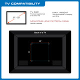 "QualGear® QG-TM-032-BLK UL Listed Heavy Duty Full Motion TV Wall Mount for Most 37""-70"" Flat Panel and Curved TVs, Black"