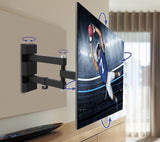 QualGear Universal Low Profile Full Motion Wall Mount Product Image on TV