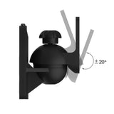 QualGear® QG-SB-002-BLK UL Listed Universal Speaker Wall Mount for Most Speakers up to 3.5kg/7.7lbs, Black