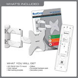 Whats included in the QualGear Full Motion TV Wall Mount