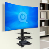 Shelf wall mount TV
