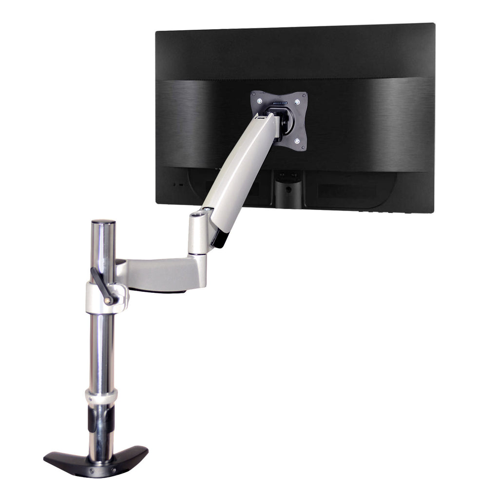 "QualGear® QG-DM-01-023 Articulating Monitor Desk Mount with Spring Arm for most 13"" to 27"" Monitors and TVs"