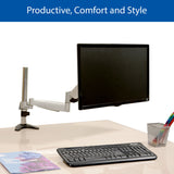 QualGear Articulating Monitor Desk Mount with Spring Arm with Adjustable Arm