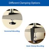 Different Clamping Options for Monitor Mount