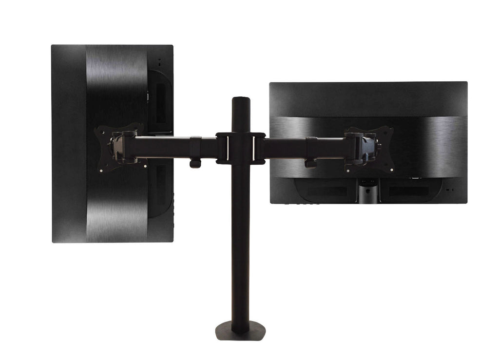 QualGear 3-Way Articulating Dual Monitor Desk Mount Main Image