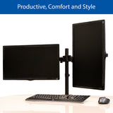 QualGear 3-Way Articulating Dual Monitor Desk Mount final image