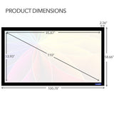 Projector Screen Dimensions