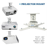 QualGear Projector Ceiling Mount Bundle Projector Screen Mount information