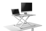 Star Ergonomics Ultra Slim Compact Standing Desk Product with Computer and laptop on it