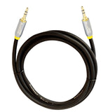 QualGear Premium Auxiliary Stereo Audio Cable - 100% OFC Copper, Gold Plated Contacts, 3.5mm Male to 3.5mm Male - 4' Black (QG-ACBL-4FT)