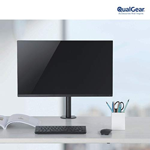 QualGear 3-Way Articulating Single Monitor Desk Mount Main Image