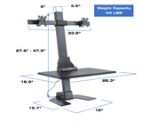 Star Ergonomics Electric Dual Monitor Sit Stand Desktop Workstation Specifications
