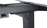 Close up of sit stand desk frame edge