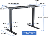 Star Ergonomics - 3 Stage Reverse Dual Motor Electric Sit-Stand Desk Frame (SE06E1FB)
