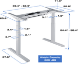 Electric Sit Stand Desk Specifications