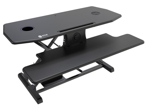 Electric Standing Desk Converter - w/ Qi Certified Wireless Charging Pad (SE09E2WB)