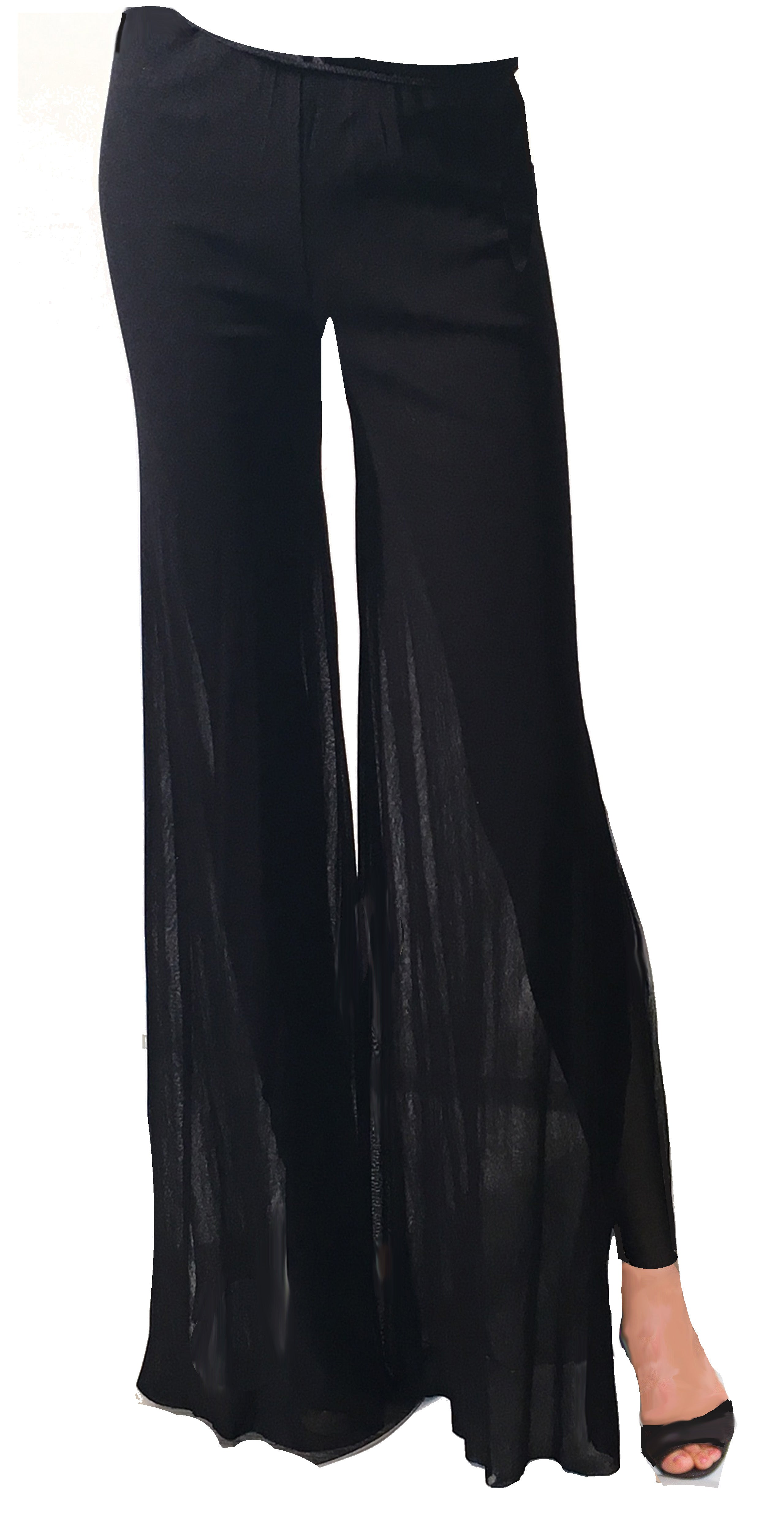 Sexy Mesh Split Pant / Legging MP2 - Sara Mique Evening Wear