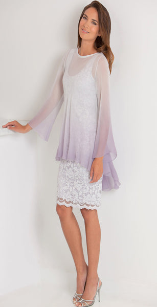 Silk Plisse' Tunic & French Lace Dress - T1501OM/ D617