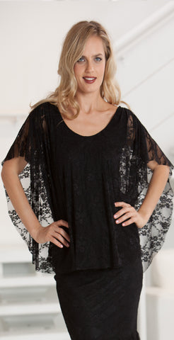 Stretch Lace top  - BSL12 ( Skirt BSL3 Sold Separately)