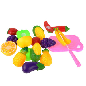 11PC children Pretned play toy Cutting Fruit Vegetable Pretend Play Children Kid Educational Toys for kids kitchen toy