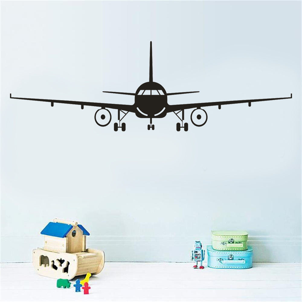 Aircraft Wall Stickers For Home Decoration Boy Kids Room Decals Mural Art  Posters Wallpaper Stickers Muraux