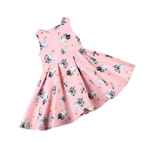 Princess Swan Girl Dress Summer