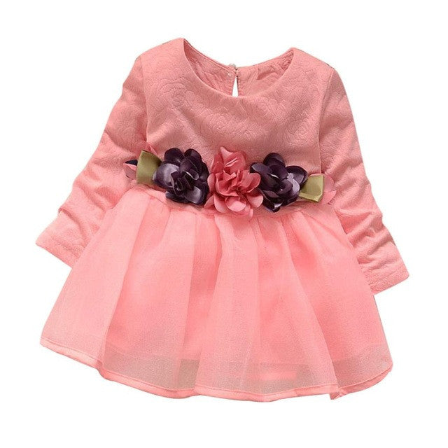 Summer Dress Girls Dresses Long Sleeve Party Flower Princess Dress Robe Fille Enfant Kids Outfits Clothes