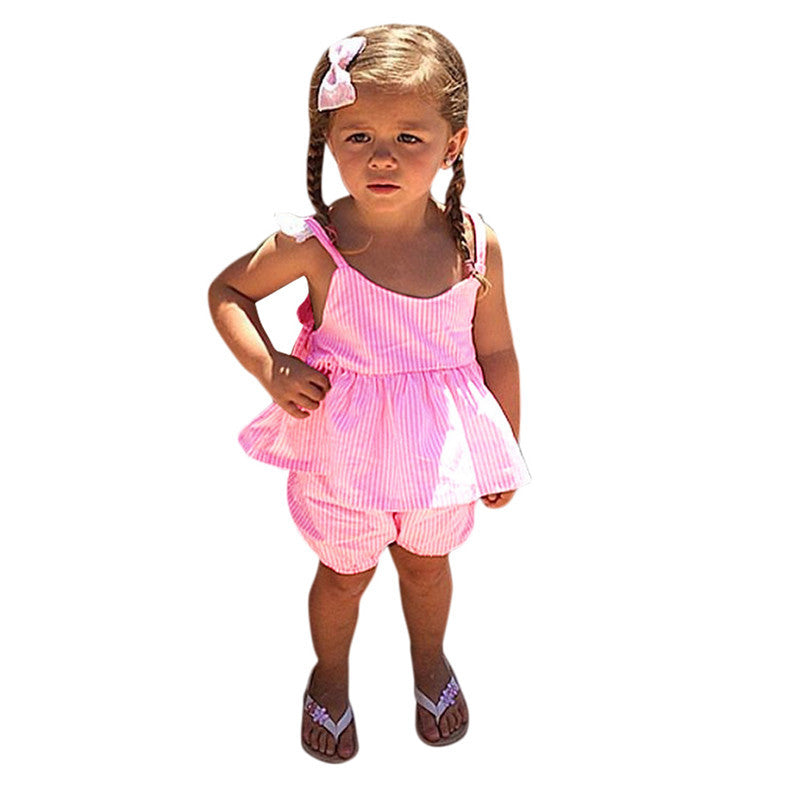 Toddler Lace Dress for Girls Kids Baby Girls Clothes Outfits Summer Princess Dresses With Shorts 2 pcs Clothing Sets for Girl