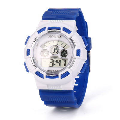 Fashion Boy Girl Child Kid Sport Waterproof LED Light Analog Digital Wrist Watch