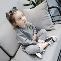 Toddler Baby Kids Girls Outfits Clothes Embroidery T-shirt Pullovers+Pants Set