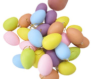 12pcs Kids Children DIY Painting Egg Toy With Rope Gifts Plastic Hanging Easter