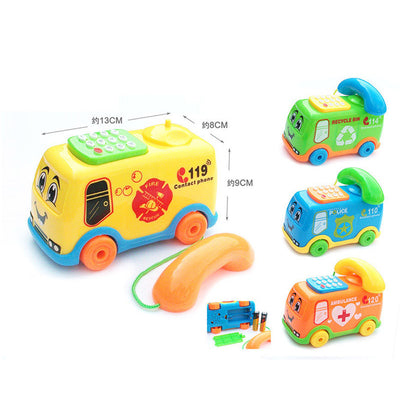 2017 Baby Toys Music Cartoon Bus Phone Educational Developmental Kids Toy Gift