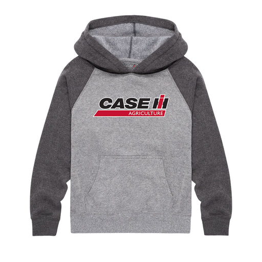 Case IH Ag Logo Youth Boys Kids Raglan Hoodie