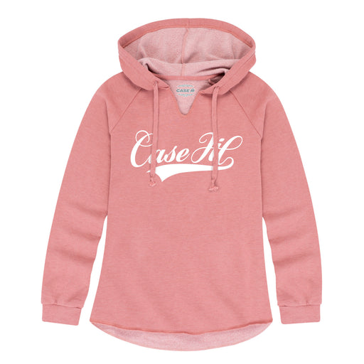 Case Ih Script Tail Ladies Lightweight Hooded Pullover