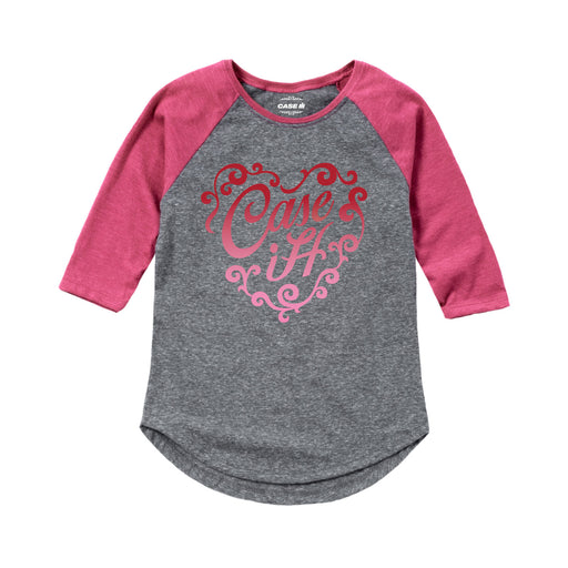 Case IH Heart Gradient Kids Raglan